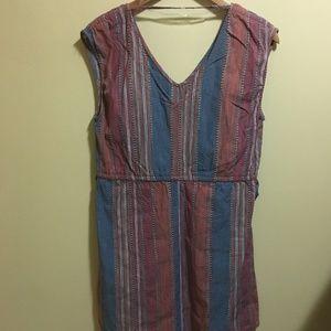 Universal Thread Tops - Universal Thread Striped Sleeveless Tunic / Dress